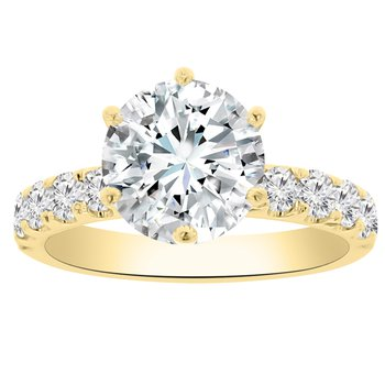 1ct tw Diamond Engagement Ring Setting in 18K Yellow Gold