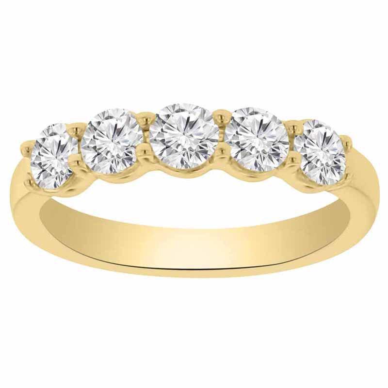 1ct tw NewBorn Lab Created Diamond Wedding Ring in 14K Yellow Gold