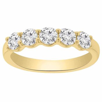 1ct tw NewBorn Lab Created Diamond Wedding Ring in 14K Yellow Gold