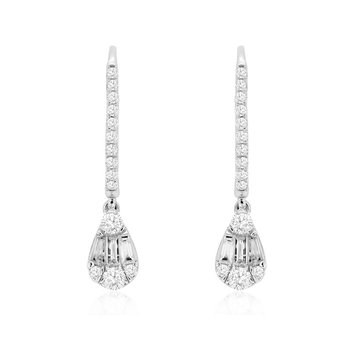 1/2ct tw Diamond Thousand Points of Light Earrings in 14K White Gold