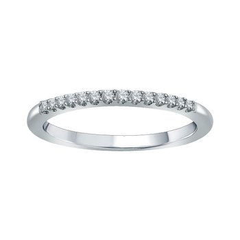 1/8ct tw Diamond WOW Wedding Ring in 14K White Gold