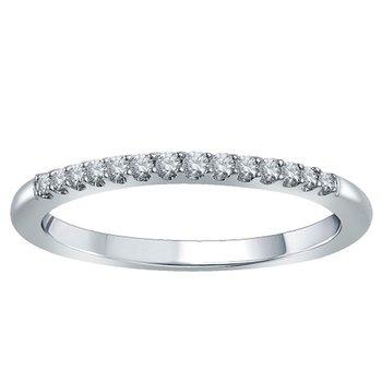 1/8ct tw Diamond WOW Wedding Ring in 14K White Gold