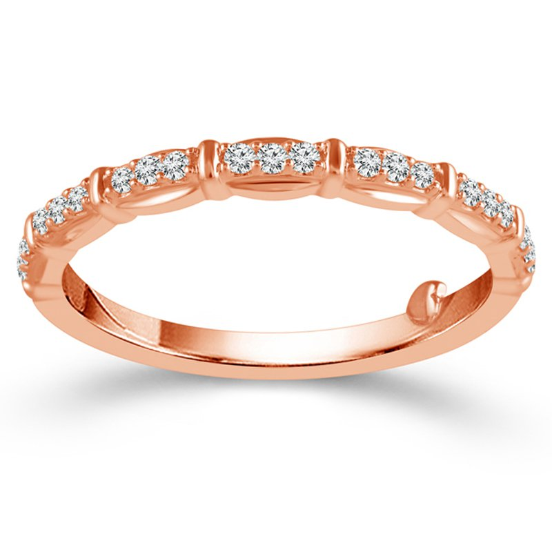 1/8ct tw Diamond True Promise Collection Wedding Ring in 10K Rose Gold
