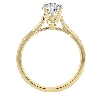 9/10ct tw Diamond Solitaire Engagement Ring in 14K Yellow Gold