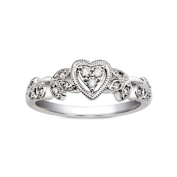 1/8ct tw Diamond Promise Ring in Sterling Silver