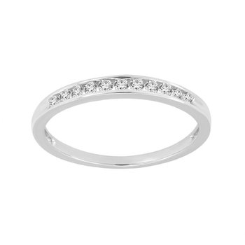 1/5ct tw Diamond Anniversary Ring in 10K White Gold
