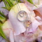 1/4ct tw NewBorn Lab Created Diamond Circle of Love Necklace in Sterling Silver