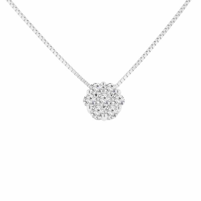 1/3ct tw Diamond Thousand Points of Light Necklace in 14K White Gold