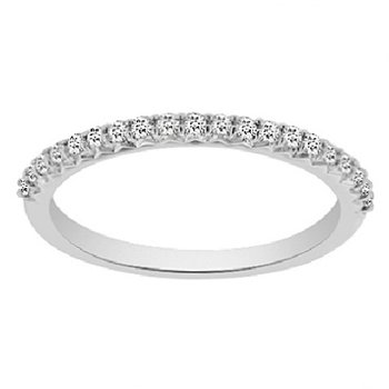 1/5ct tw NewBorn Lab Created Diamond Wedding Ring in 14K White Gold