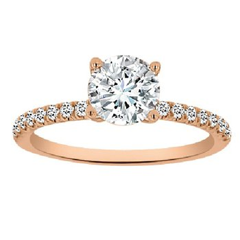 1 3/4ct tw Diamond Engagement Ring in 14K Rose Gold