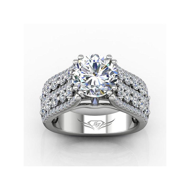 1 1/4ct tw Diamond Engagement Ring Setting in 14K White Gold