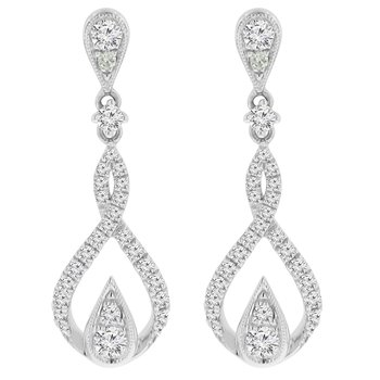 3/4ct tw Diamond Fashion Earrings in 18K White Gold