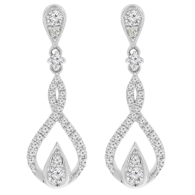 3/4ct tw Diamond Fashion Earrings in 18K White Gold