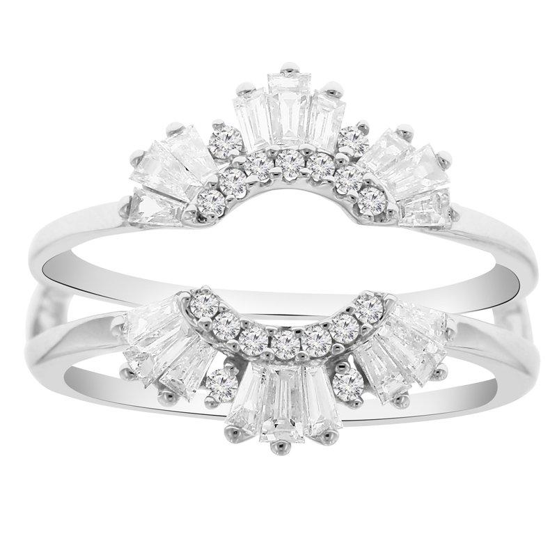 5/8ct tw Diamond Wedding Ring Guard in 14K White Gold