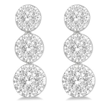 1/2ct tw Diamomd Thousand Points of Light Earrings in 14K White Gold