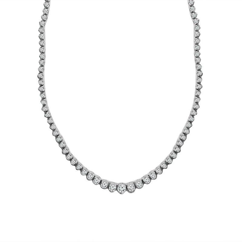 10ct tw Diamond Riviera Necklace in 14K White Gold