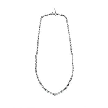 10ct tw Diamond Riviera Necklace in 14K White Gold