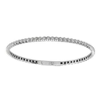 7/8ct tw Diamond Bangle Bracelet in 14K White Gold