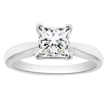 1 5/8ct tw Diamond Solitaire Engagement Ring in 14K White Gold