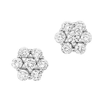 3/4ct tw NewBorn Lab Created Diamond Thousand Points of Light Stud Earrings in 14K White Gold