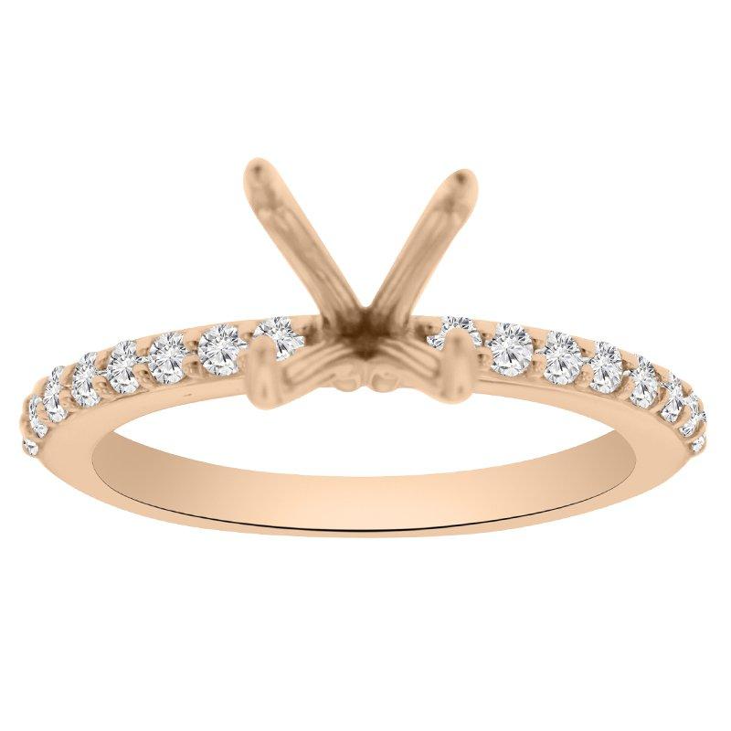 1/4ct tw NewBorn Lab Created Diamond Engagement Ring Setting in 14K Rose Gold