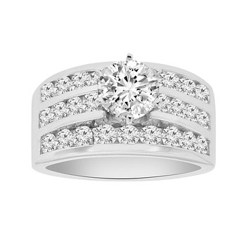 1 5/8ct tw Diamond Engagement Ring Setting in 14K White Gold