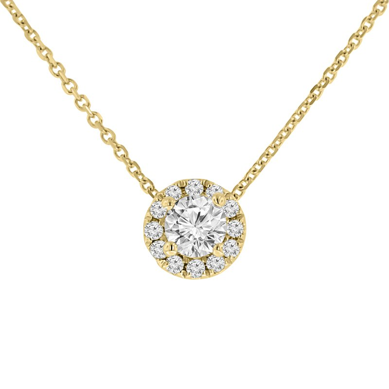 1/2ct tw Diamond Simply Love Collection Necklace in 14K Yellow Gold