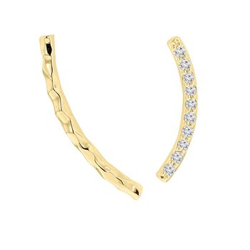 1/14ct tw NewBorn Lab Created Diamond Ear Climbers in 14K Yellow Gold