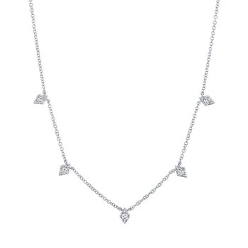 1/5ct tw Diamond Fashion Necklace in 14K White Gold