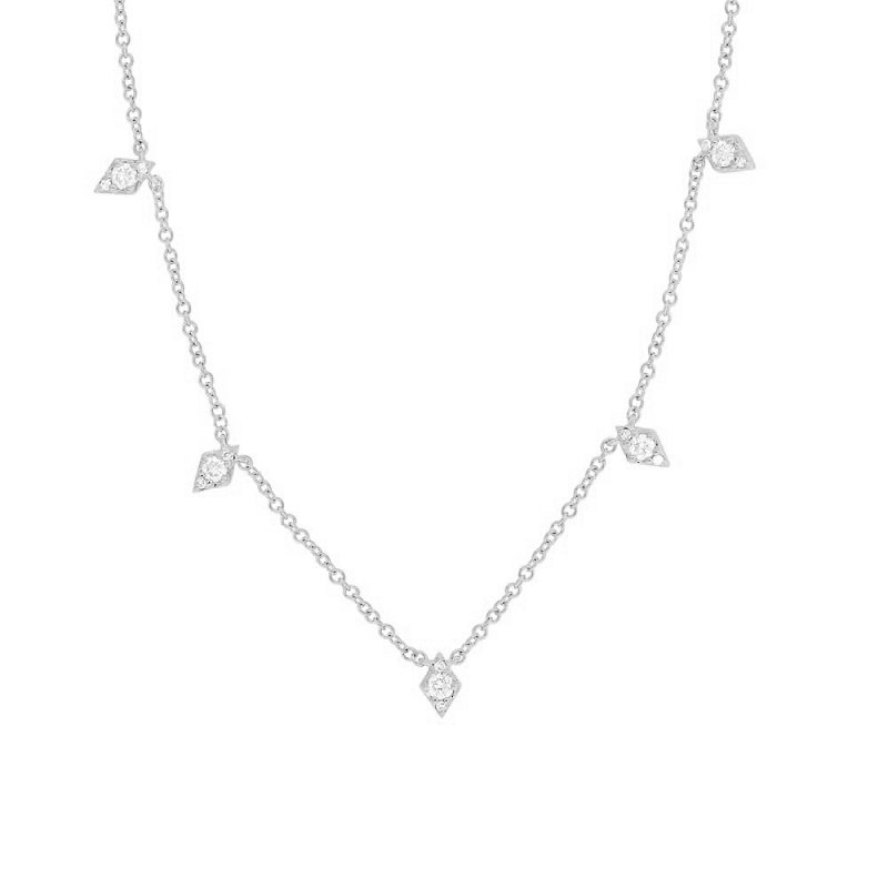 1/5ct tw Diamond Fashion Necklace in 14K White Gold