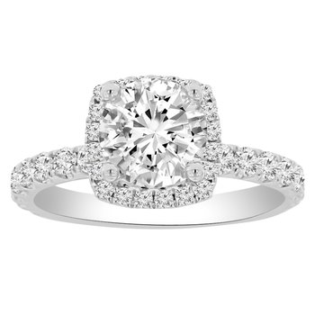 1 7/8ct tw NewBorn Lab Created Diamond Engagement Ring in 18K White Gold