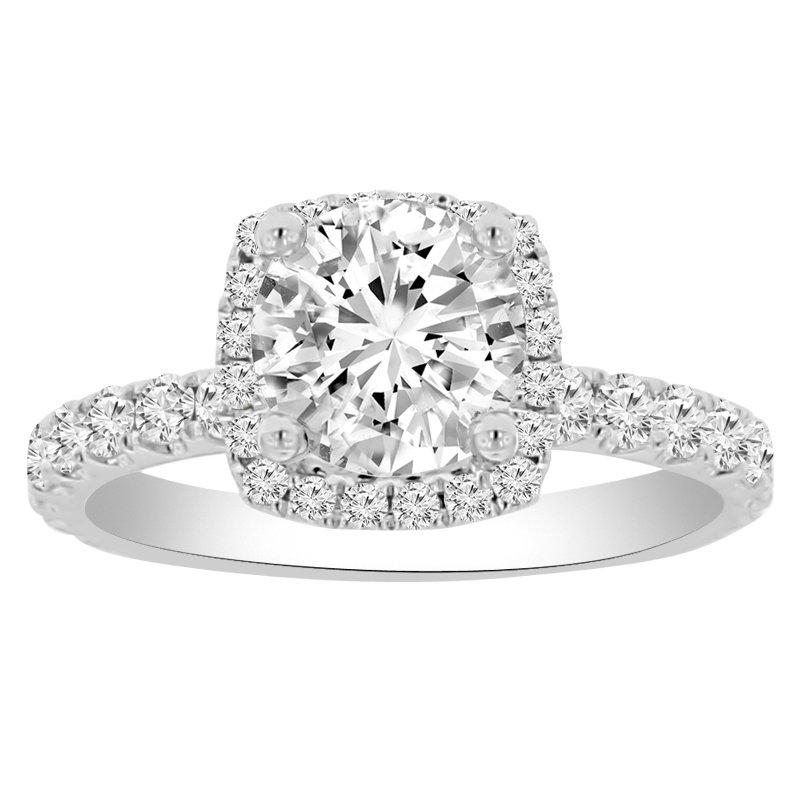 1 7/8ct tw NewBorn Lab Created Diamond Engagement Ring in 18K White Gold