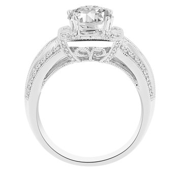 1 1/3ct tw Diamond Halo Engagement Ring Setting in 14K White Gold