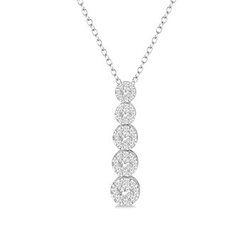 5/8ct tw Diamond Thousand Points of Light Necklace in 14K White Gold