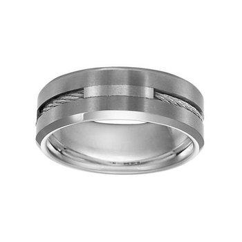 8mm Wedding Ring in Tungsten & Stainless Steel