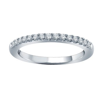1/4ct tw Diamond WOW Wedding Ring in 14K White Gold