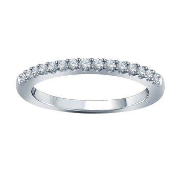 1/4ct tw Diamond WOW Wedding Ring in 14K White Gold