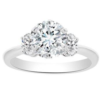 3/8ct tw Diamond Engagement Ring Setting in 18K White Gold