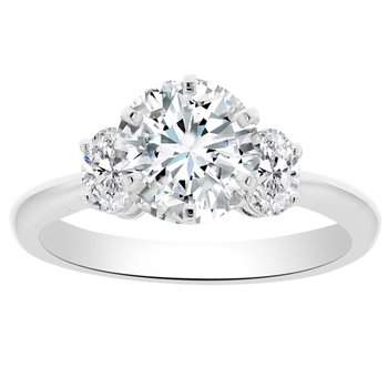 3/8ct tw Diamond Engagement Ring Setting in 18K White Gold