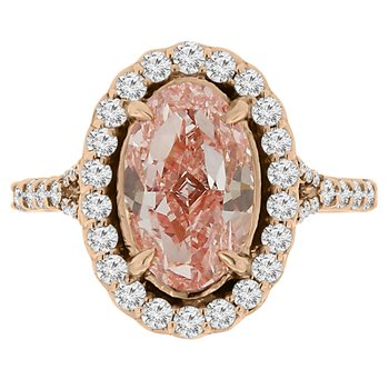 3 5/8ct tw Diamond Halo Engagement Ring in 14K Rose Gold
