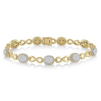 2 1/8ct tw Diamond Thousand Points of Light Bracelet in 14K White & Yellow Gold