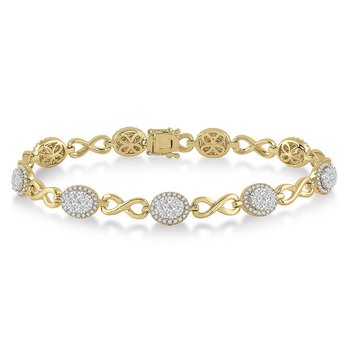 2 1/8ct tw Diamond Thousand Points of Light Bracelet in 14K White & Yellow Gold