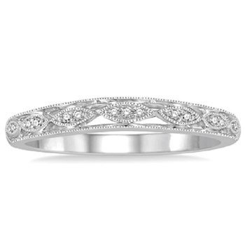 .06ct tw Diamond Wedding Ring in 14K White Gold