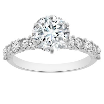 1 1/2ct tw NewBorn Lab Created Diamond Engagement Ring in 18K White Gold