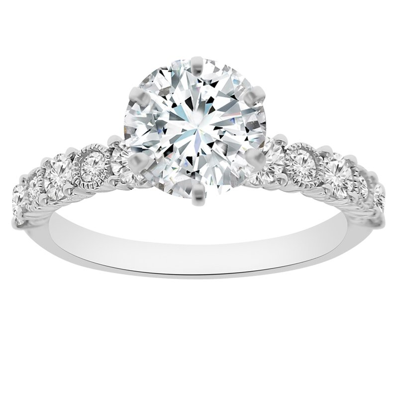 1 1/2ct tw NewBorn Lab Created Diamond Engagement Ring in 18K White Gold