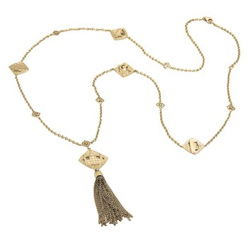 .01ct tw Diamond Nola Collection Necklace in Sterling Silver with Yellow Gold Plating