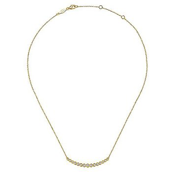 1/2ct tw Diamond Bar Necklace in 14K Yellow Gold