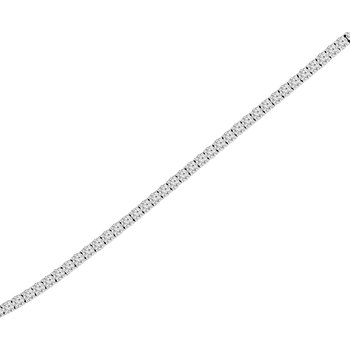 1 1/2ct tw NewBorn Lab Created Diamond Tennis Bracelet in 14K White Gold