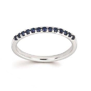 September Birthstone Ring in 14K White Gold