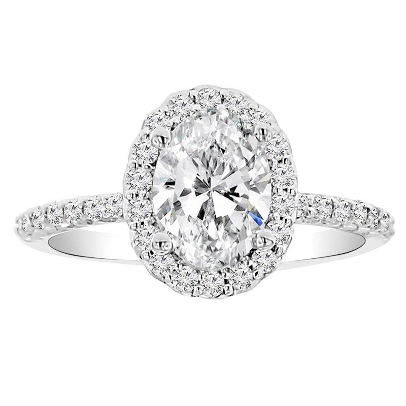1 3/4ct tw NewBorn Lab Created Diamond Engagement Ring in 14K White Gold